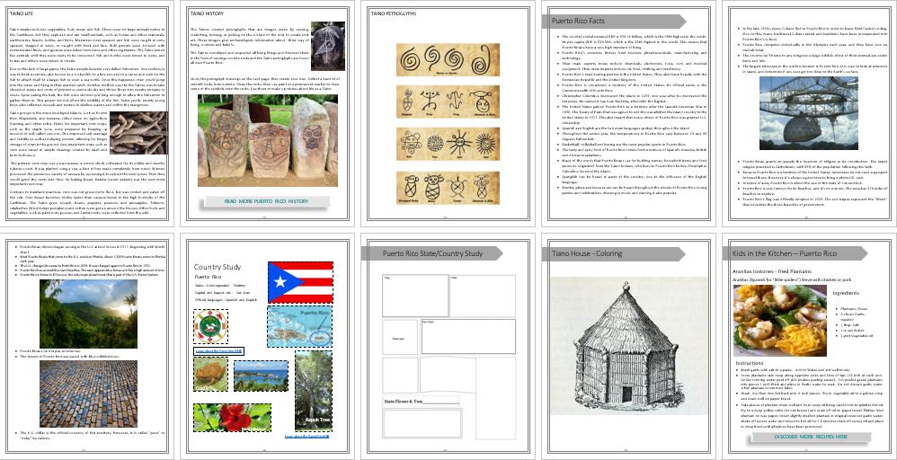 Manatee Unit Study - Puerto Rico